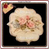 230 Roses Shaped Note Card *HAND & MACHINE Cut Files*