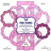 Ten PinkFrames - Designer Resource For Commercial Use - CU/PU