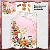 Celebrations card and decoupage