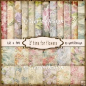 Vintage Linen It is time for flowers 139 IV