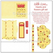 With Love...Hearts and flowers gift set