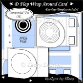 D Flap Wrap Around Card Template