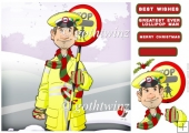 Christmas Lollipop Man Dude 8x8 With Insert