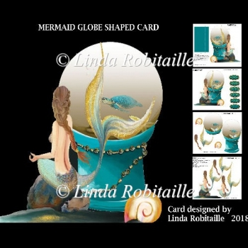 Mermaid Globe Shaped Card