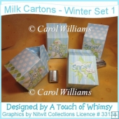 Milk Cartons - Winter Set 1
