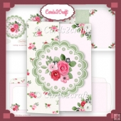 Daisy shaped flower foldback card set