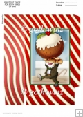 Christmas Pudding Mouse Mini Gift Bag