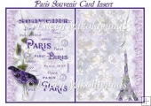 Paris Souvenir Card Insert