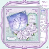 SYMPATHY PRAYING HANDS ROSES & VERSE 8x8 Decoupage & Insert