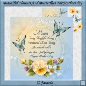 Beautiful Flowers And Butterflies For Mothers Day