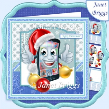 CHRISTMAS SMARTPHONE 'Appy Christmas 7.5 Decoupage & Insert Kit