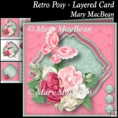 Retro Posy - Layered Card
