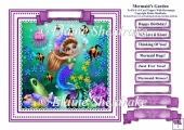 A Mermaids Garden (2) - Square Card Topper With Greetings