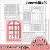 Arched Window Card with 3D Inner Panel Commercial Use OK