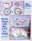 Just Dropping By Pocket Tissue Box Card Set with Directions