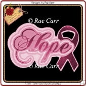 410 Hope Cancer Topper *Multiple MACHINE Formats*