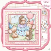 PARTY PRESSIE TIME 8x8 Decoupage & Insert Birthday Kit