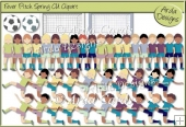 Fever Pitch Spring CU Clipart