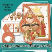 3 Kings Diamond Fold Card Kit