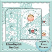 Eskimo Boy Gift Box Card
