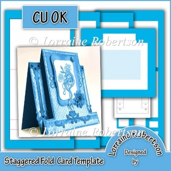 Staggered Fold Card Template ~ CU