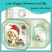 Cute Puppy Christmas Card Kit