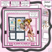 HOT FLUSHES 7.5 Humorous Decoupage & Insert Kit