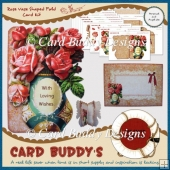 Rose Vase Shaped Fold Card Kit