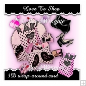 Love To Shop 3d Wrap-Around Card