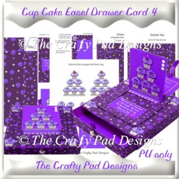 Cup Cake Sliding Easel Drawer Card 4