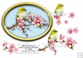Bird & Blossoms - 7 x 5 Decoupage Card Topper