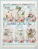 Cottage Chic Invitation to Tea Tag Set