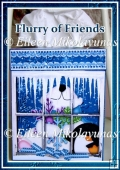 Flurry of Friends Kleenex Box Cover with Directions