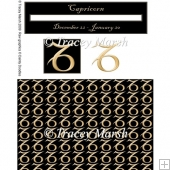 Capricorn Birthday Horoscope Penny Slider Sheet