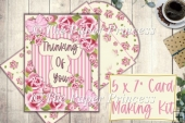 Thinking Of You Roses Card with inserts and envelope