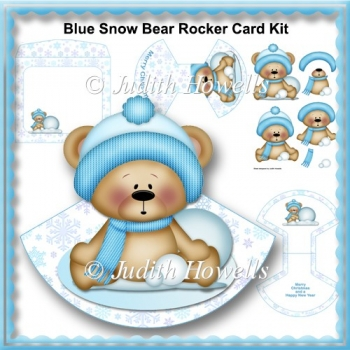 Blue Snow Bear Rocker Card Kit