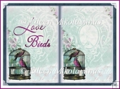 Love Birds Open Book Card Insert
