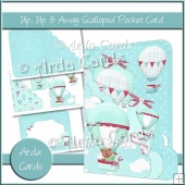 Up, Up & Away Scalloped Pocket Card