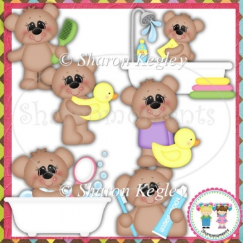 Bath Time Bears Designer Resource Graphic
