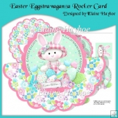 Easter Eggstravaganza Rocker Card with Decoupage