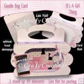It's a Girl Thing Goodie Bag Card