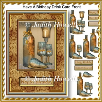 Have A Birthday Drink Card Front