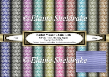Basket Weave Metal Chain Link - Ten Sheets Of A4 Backing Paper