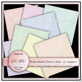 CU/PU Papers - Flowers n Dots Pastels