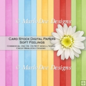 Soft Feelings Card Stock Digital Papers {A4 size}