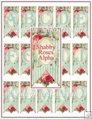 Shabby Roses Alphabet Monograms for Cards, Tags, Crafts