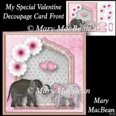 My Special Valentine - Decoupage Card Front