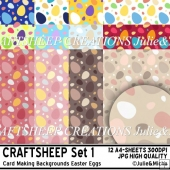 12 Card Making Backgrounds Easter Eggs (CRAFTSHEEP Set 1)