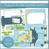 Singing In The Rain Waterfall Card Kit