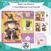 Whats Up Witches? 7.5 Inch Halloween Card Front Kit